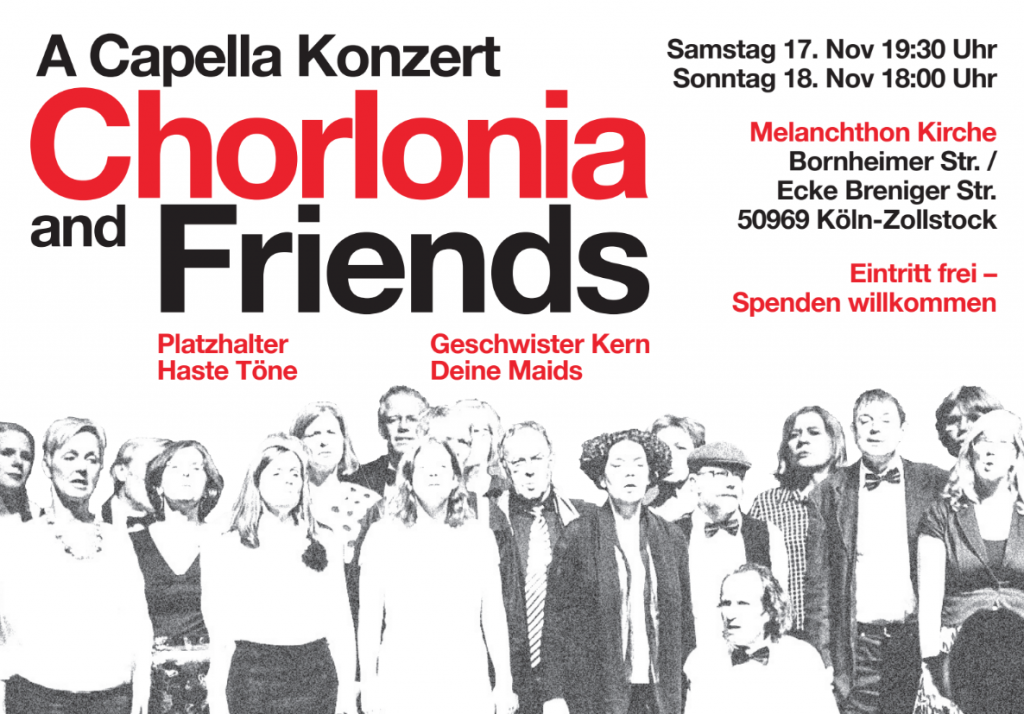 Konzertflyer CHOLRONIA and Friends 2018